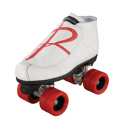 Riedell 796 Hybrid Jam Roller Skates, Wheels: Red-Overlay: Red, medium