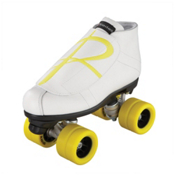 Riedell 796 Hybrid Jam Roller Skates, Wheels:Yellow - Overlay: Yellow, medium