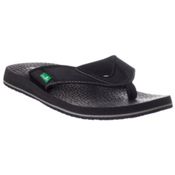 Sanuk Beer Cozy Mens Flip Flops, Black, medium