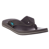 Sanuk Beer Cozy Mens Flip Flops, Brown, medium
