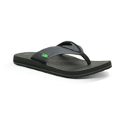Sanuk Beer Cozy Mens Flip Flops, Black-Grey, medium