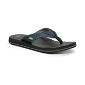 Sanuk Beer Cozy Mens Flip Flops, Navy, medium