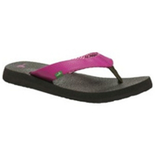Sanuk Yoga Mat Womens Flip Flops, Fuschia, medium