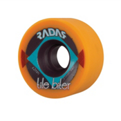 Radar Tile Biter Roller Skate Wheels - 4 Pack, Orange, medium