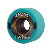 Radar Tile Biter Roller Skate Wheels - 4 Pack 2014, Turquoise, medium