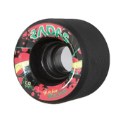 Radar Quickie Stickie Roller Skate Wheels - 4 Pack, Black, medium