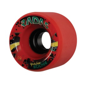 Radar Quickie Stickie Roller Skate Wheels - 4 Pack, Red, medium