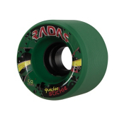 Radar Quickie Stickie Roller Skate Wheels - 4 Pack, Green, medium