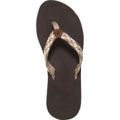 Reef Mallory Womens Flip Flops, Brown-Metallic, medium