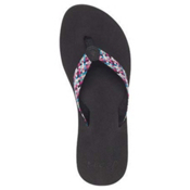 Reef Mallory Womens Flip Flops, Black Multi 2, medium