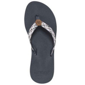 Reef Mallory Womens Flip Flops, Grey-Metallic, medium