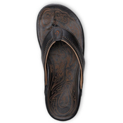 Olukai Hiapo Mens Flip Flops, Black-Black, medium