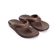 Olukai Hiapo Mens Flip Flops, Black Toffee-Teak, medium