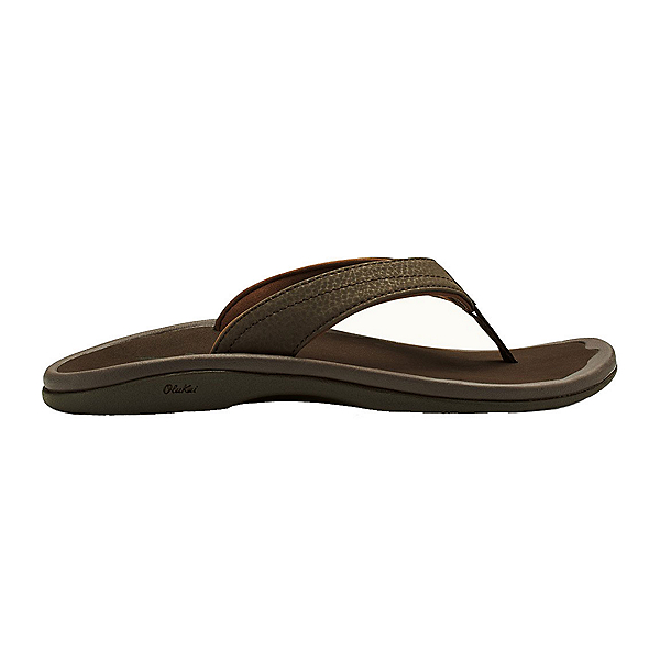 OluKai Ohana Womens Flip Flops, Dark Java-Dark Java, 600