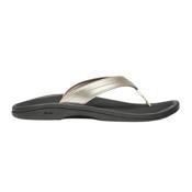 OluKai Ohana Womens Flip Flops, Bubbly-Black, medium
