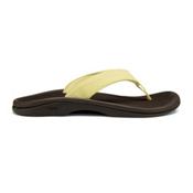 OluKai Ohana Womens Flip Flops, Lemonade-Dark Java, medium
