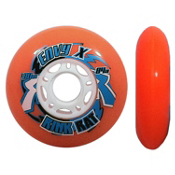 Rink Rat Envy X Outdoor 84A Inline Hockey Skate Wheels - 4 Pack, Orange, medium