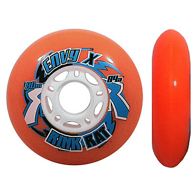 Rink Rat Envy X Outdoor 84A Inline Hockey Skate Wheels - 4 Pack, Orange, viewer