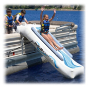 Rave Pontoon Slide Water Trampoline Attachment, , medium