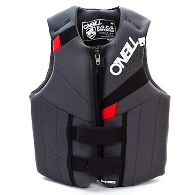O'Neill Neoprene Teen Life Vest 2017, Coal-Black-Red, viewer