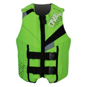 O'Neill Neoprene Teen Life Vest 2017, Dayglo-Black-Flint, medium