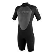 O'Neill Reactor 2mm Shorty Wetsuit 2017, Black-Black-Black, medium