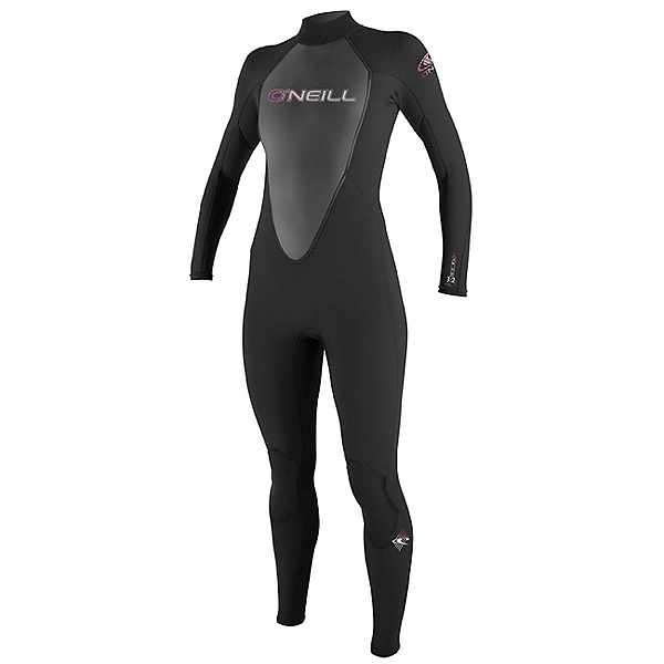 O'Neill Reactor 3/2 Womens Full Wetsuit 2017, Black-Black-Black, 600