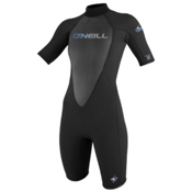 O'Neill Reactor 2/1 Womens Shorty Wetsuit 2017, Black, medium
