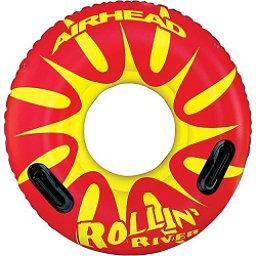 Airhead Rollin River Inflatable Raft, Red-Yellow, 256