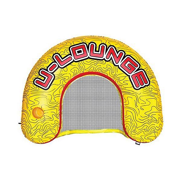 Airhead U-Lounge Inflatable Raft, Yellow-Red, 600