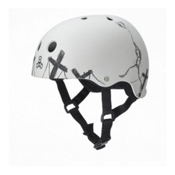 Triple 8 Balloon SS Robot Mens Skate Helmet, Balloon Robot White Rubber, medium