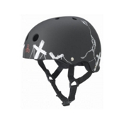 Triple 8 Balloon SS Robot Mens Skate Helmet, Balloon Robot Black Rubber, medium