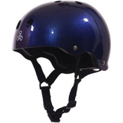 Triple 8 Brainsaver Mens Skate Helmet, Blue Metallic, medium