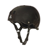 Triple 8 Brainsaver Mens Skate Helmet, Black Gloss, medium