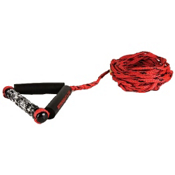 Straight Line Combo Wakesurf Rope 2015, Red-Black, medium