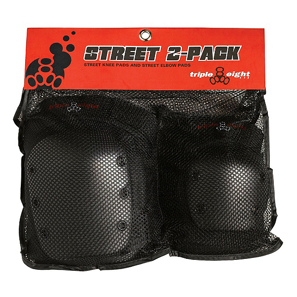 Triple 8 Street Protective 2-Pack, Black, 600
