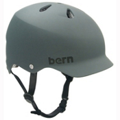 Bern Watts EPS Mens Skate Helmet, Matte Grey, medium