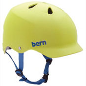 Bern Watts EPS Mens Skate Helmet, Matte Neon Yellow, medium