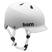 Bern Watts EPS Mens Skate Helmet, Gloss White, medium