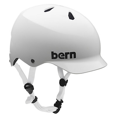 Bern Watts EPS Mens Skate Helmet, Gloss White, large