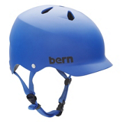 Bern Watts EPS Mens Skate Helmet, Matte Cobalt Blue, medium
