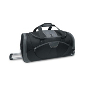 High Sierra 30 Inch Wheeled Duffel Bag, Go Gray-Dark Tungsten-Black, medium