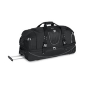 High Sierra 36 Inch Drop-Bottom Wheeled Duffel Bag, Black, medium