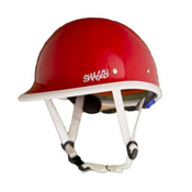 Shred Ready Shaggy Helmet 2013, Fire Red-White Trim, medium