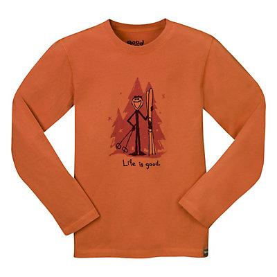 Life Is Good Ski Jake Long Sleeve Kids T-Shirt, , large