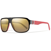 Smith Gibson Polarized Sunglasses, Black Red, medium