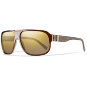 Smith Gibson Polarized Sunglasses, Brown Wood, medium