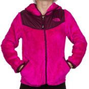 The North Face Oso Hoodie Girls Jacket, Azalea Pink-Parlour Purple, medium