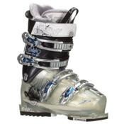 Lange Exclusive Delight Pro Womens Ski Boots, Transparent Silver-Onyx Grey, medium
