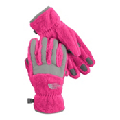 The North Face Denali Thermal Girls Gloves, Passion Pink-Metallic Silver, medium
